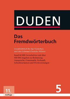 Der Duden, Bd.5 Das Fremdwörterbuch